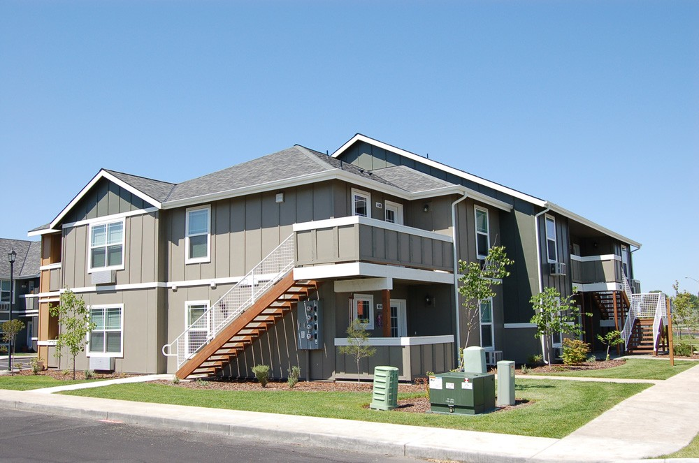 This is the Aspens Craftsman style apartment